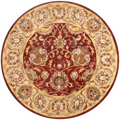 Essex Red Area Rug Rug Size: Round 8