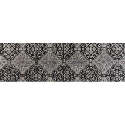 Ashland Grey Area Rug Rug Size: Runner 26 x 8