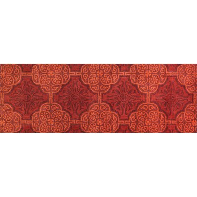 Ashland Red Area Rug Rug Size: Runner 26 x 8