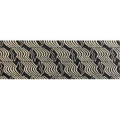 Ashland Black Rug Rug Size: Runner 26 x 8