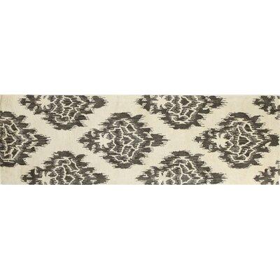 Ashland Ivory/Chocolate Area Rug Rug Size: Runner 26 x 8
