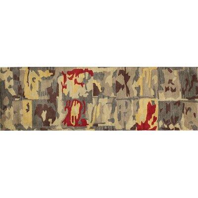 Ashland Gold Area Rug Rug Size: Runner 26 x 8