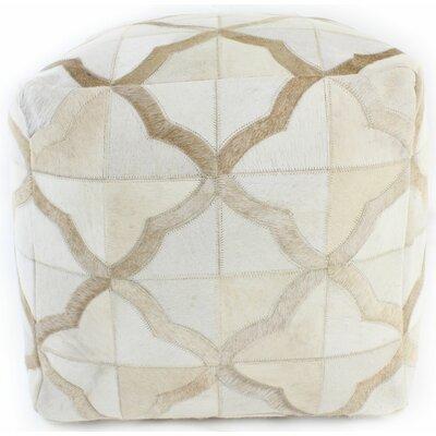 Mayfair Pouf Ottoman Upholstery: Ivory / Camel