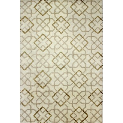 Valerie Hand-Tufted Beige Area Rug Rug Size: 39 x 59