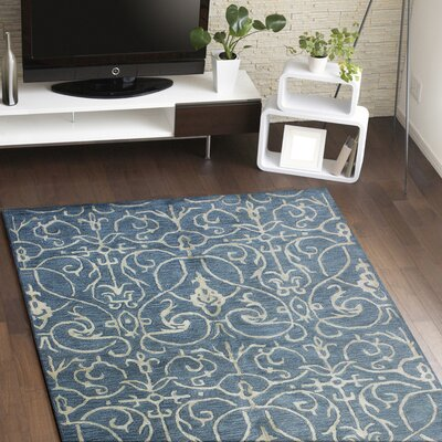 Louisa Azure & Ivory Rug Rug Size: Rectangle 56 x 86