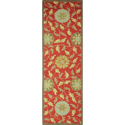 Clarkshire Red Area Rug Rug Size: Runner 26 x 8
