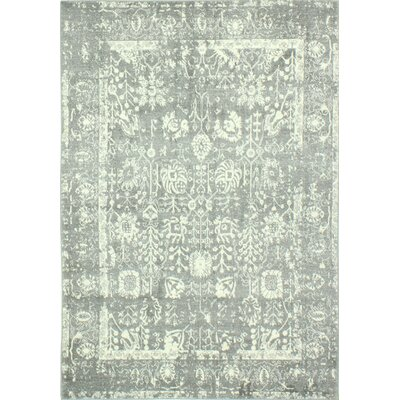 Riendeau Gray Area Rug Rug Size: 86 x 116