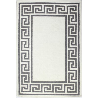 Rockport Ivory/Taupe Area Rug Rug Size: 76 x 96