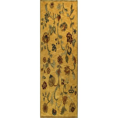 Essex Gold Area Rug Rug Size: Runner 26 x 8