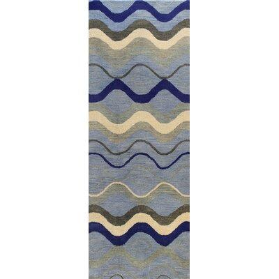 Ashland Blue Area Rug Rug Size: Runner 26 x 8