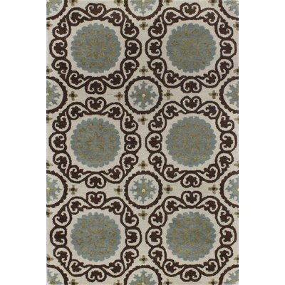 Ashland Ivory & Chocolate Area Rug Rug Size: 36 x 56