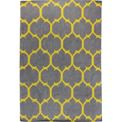 Rockport Grey/Gold Area Rug Rug Size: 76 x 96