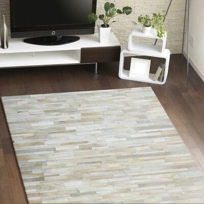 Tyler Ivory & Cream Area Rug Rug Size: Rectangle 5 x 8