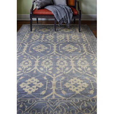 Artifact Hand-Knotted Azure Area Rug Rug Size: 86 x 116