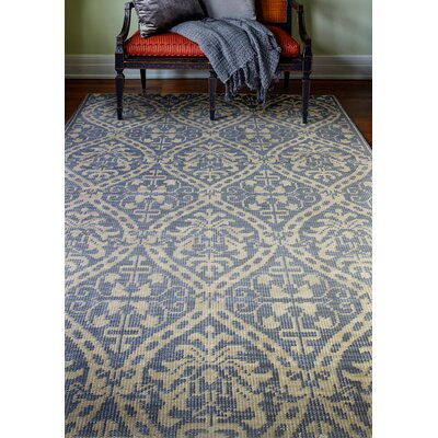 Artifact Hand-Knotted Azure Area Rug Rug Size: 36 x 56