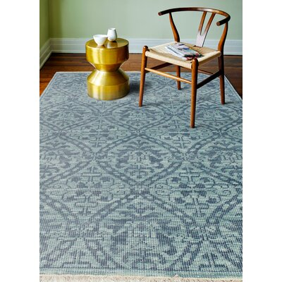 Artifact Hand-Knotted Teal Area Rug Rug Size: 86 x 116