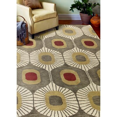 Chelsea Tufted Wool Mocha Area Rug Rug Size: Rectangle 36 x 56