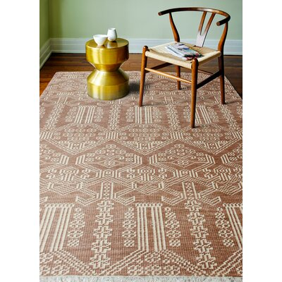 Artifact Hand-Knotted Rust Area Rug Rug Size: 86 x 116