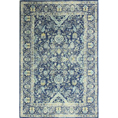Caton Blue Area Rug Rug Size: 37 x 57