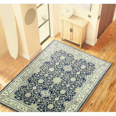 Caton Dark Blue Area Rug Rug Size: 87 x 117