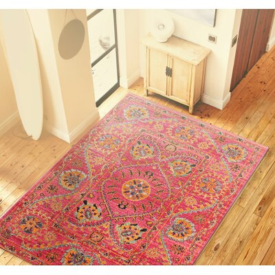 Blackwell Fuchsia Cotton Area Rug Rug Size: 77 x 97