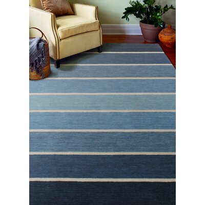 Fulham Hand-Woven Wool Blue Area Rug Rug Size: Rectangle 5 x 76