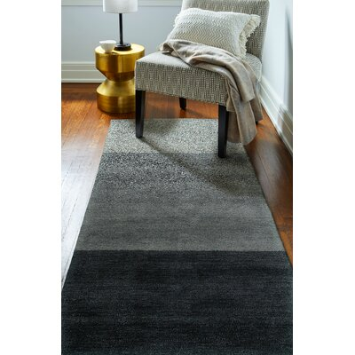Contempo Hand Woven Wool Blue Area Rug Rug Size: Runner 26 x 8