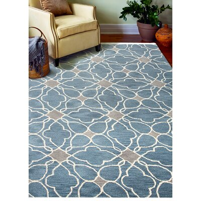 Ashland Azure Rug Rug Size: Rectangle 76 x 96