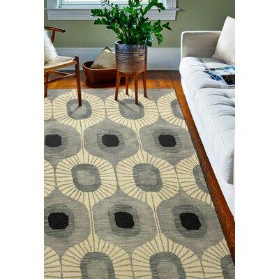 Ashland Wool Grey Area Rug Rug Size: 36 x 56