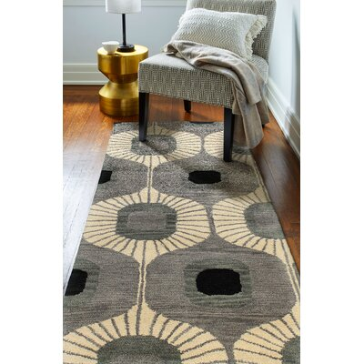 Ashland Wool Grey Area Rug Rug Size: Runner 26 x 8