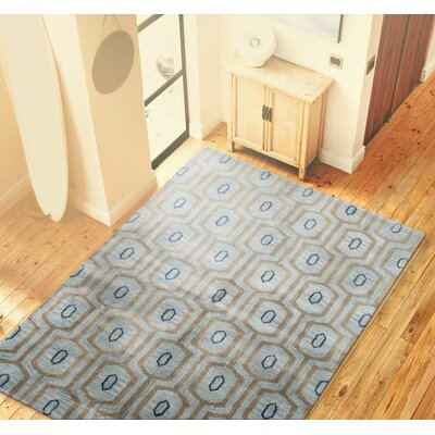 Ashland Light Blue Area Rug Rug Size: Rectangle 76 x 96