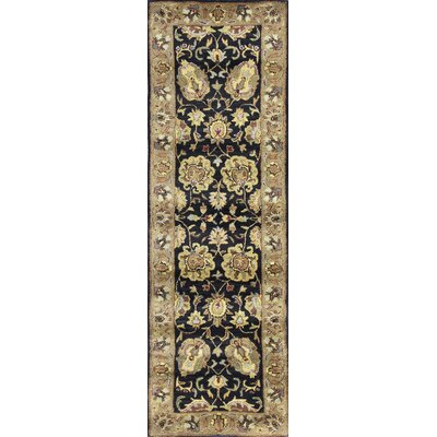 Essex Black Area Rug Rug Size: Runner 26 x 8