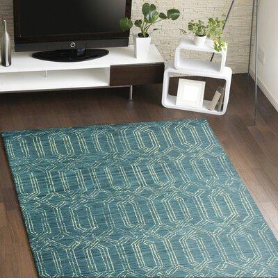 Bryden Hand-Tufted Azure Area Rug Rug Size: 76 x 96