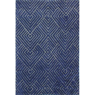 Bryden Hand-Tufted Navy Area Rug Rug Size: 86 x 116
