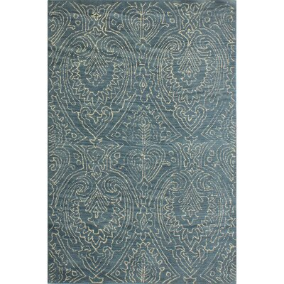 Goodridge Hand-Tufted Azure Area Rug Rug Size: 86 x 116