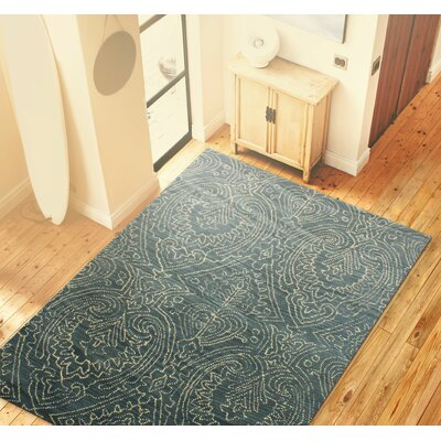 Goodridge Hand-Tufted Azure Area Rug Rug Size: 36 x 56