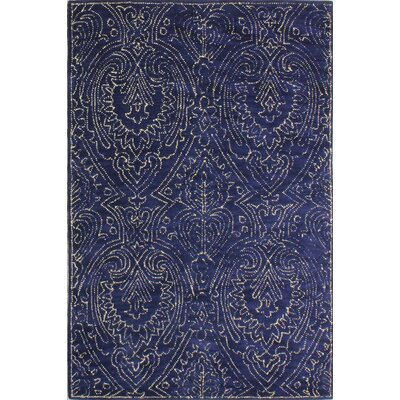 Goodridge Hand-Tufted Navy Area Rug Rug Size: 86 x 116