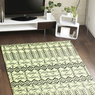 Lewiston Hand-Tufted Ivory Area Rug Rug Size: 5 x 76