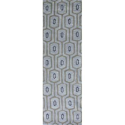 Ashland Light Blue Area Rug Rug Size: Runner 26 x 8
