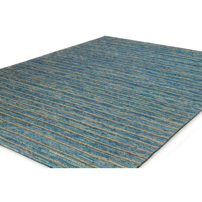 Springvale Hand-Woven Blue Area Rug Rug Size: 76 x 96