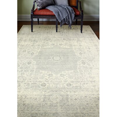 Riggs Ivory/Silver Area Rug Rug Size: 5 x 76