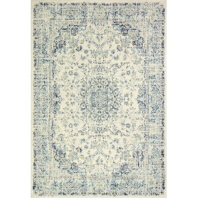 Bertrand Ivory Area Rug Rug Size: 86 x 116