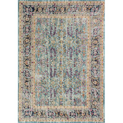 Fort Kent Teal Area Rug Rug Size: Runner 26 x 8