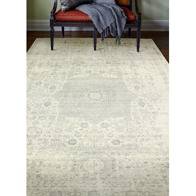 Arlingham Ivory/Silver Area Rug Rug Size: 5 x 76