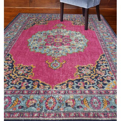 Fort Kent Fuchsia Oriental Area Rug Rug Size: Runner 26 x 8