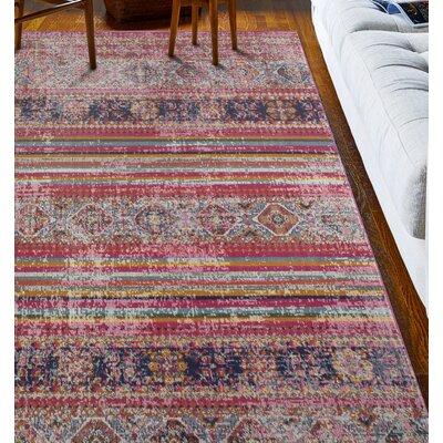 Ashburn Fuchsia Area Rug Rug Size: 38 x 56