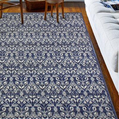 Bodell Dark Blue Area Rug Rug Size: 36 x 56