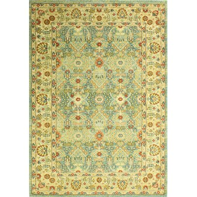 Janelle Green Area Rug Rug Size: 53 x 76