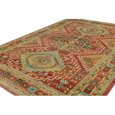 Janelle Rust Area Rug Rug Size: 79 x 11