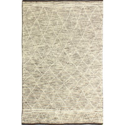 Floressa Hand-Knotted Wool Gray Area Rug Rug Size: 5 x 76
